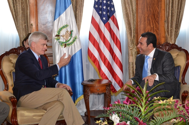 Cassidy meets Guatemala president Jimmy Morales