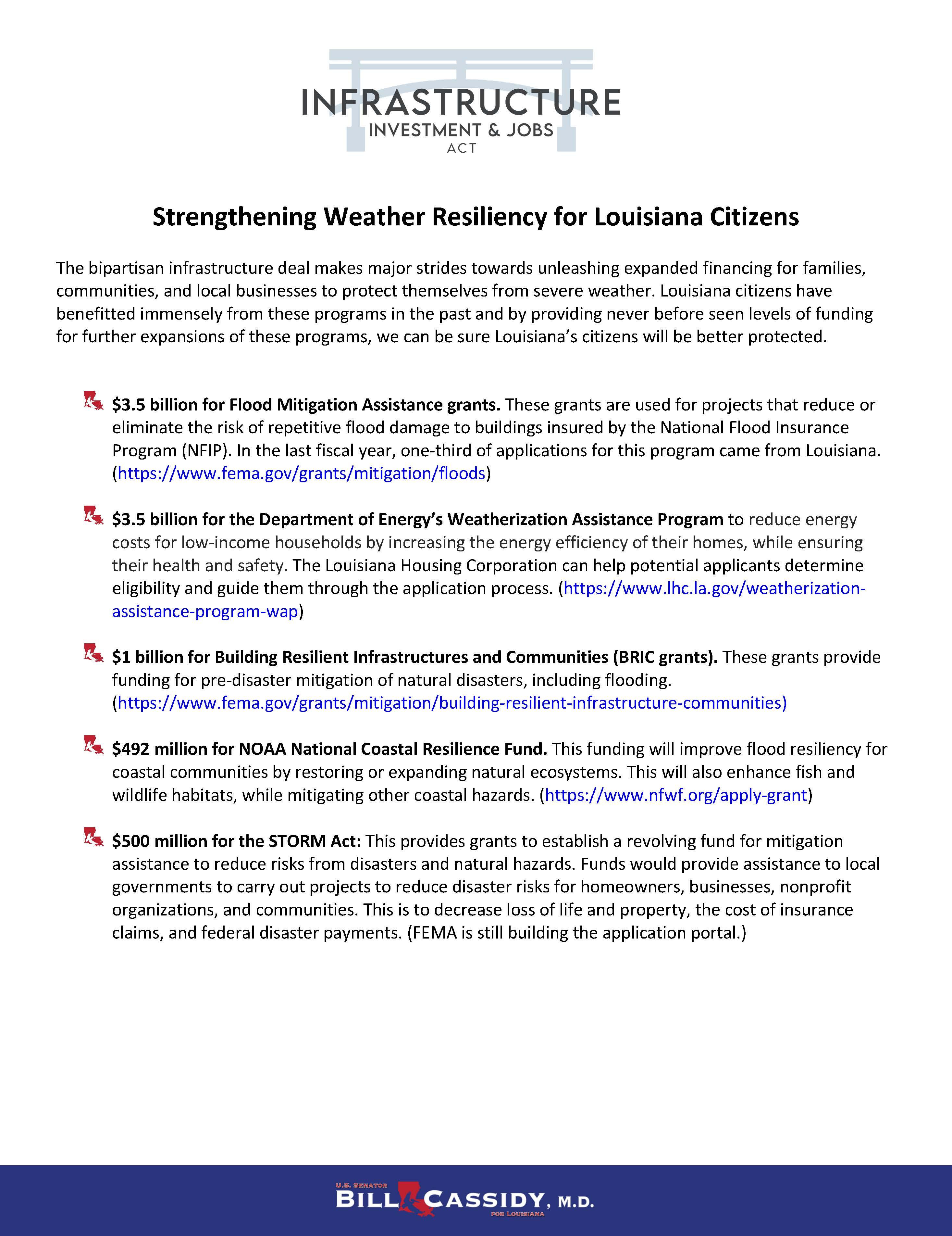 IIJA Weather Resiliency