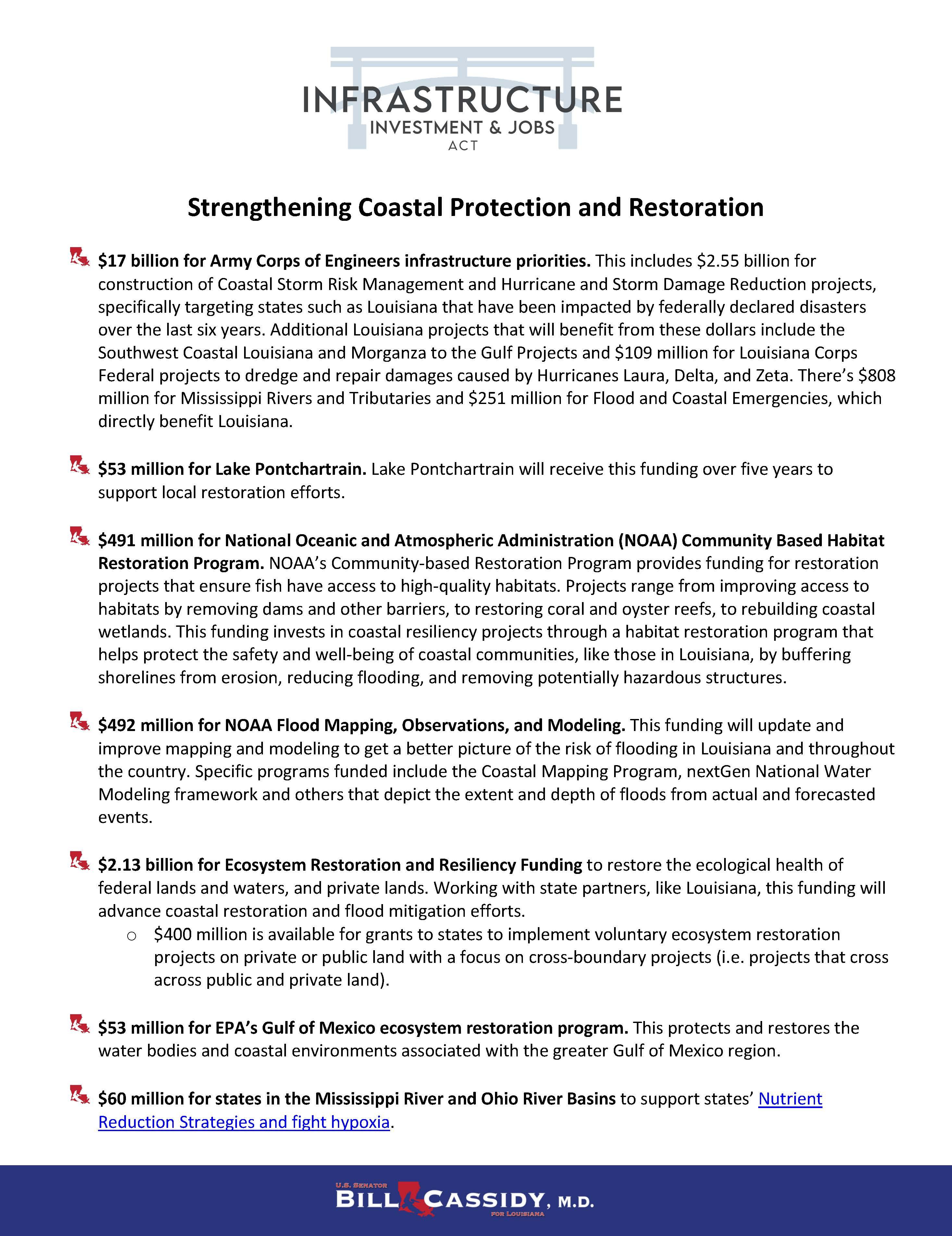 IIJA Coastal Protection and Restoration