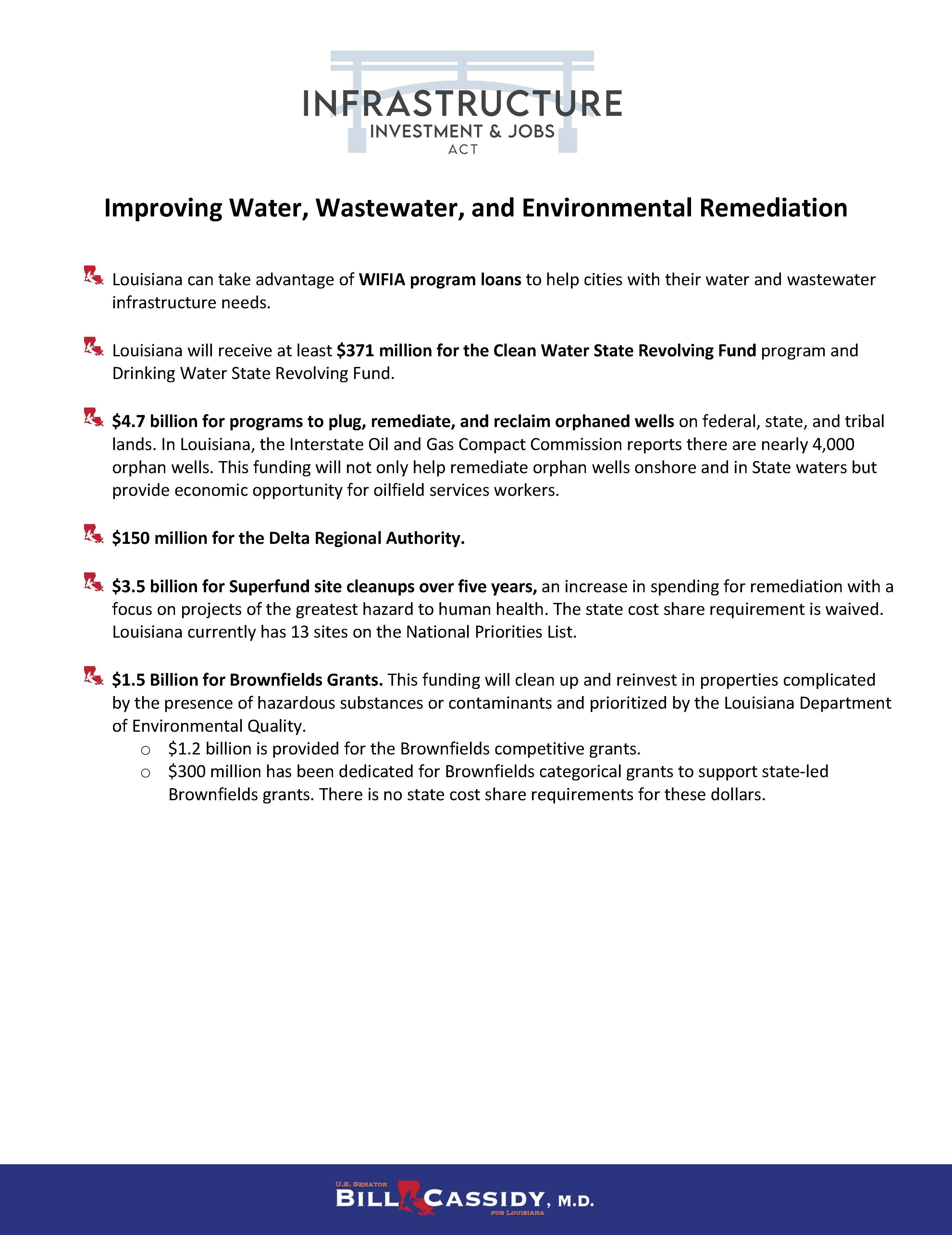 IIJA Water, Wastewater, and Environmental Remediation