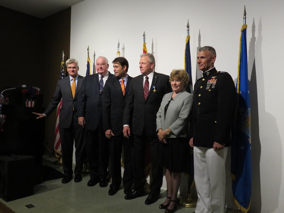 Attended Navy Cross Award Ceremony for Vietnam Veteran Marine Sgt. Kenneth Altazan.
